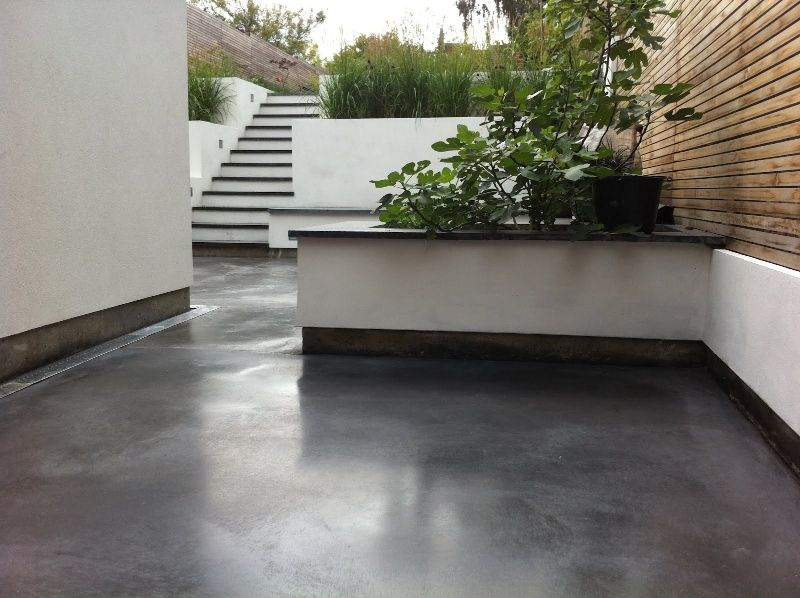 Gray Concrete Flooring : Classic grey topping colchester house steyson