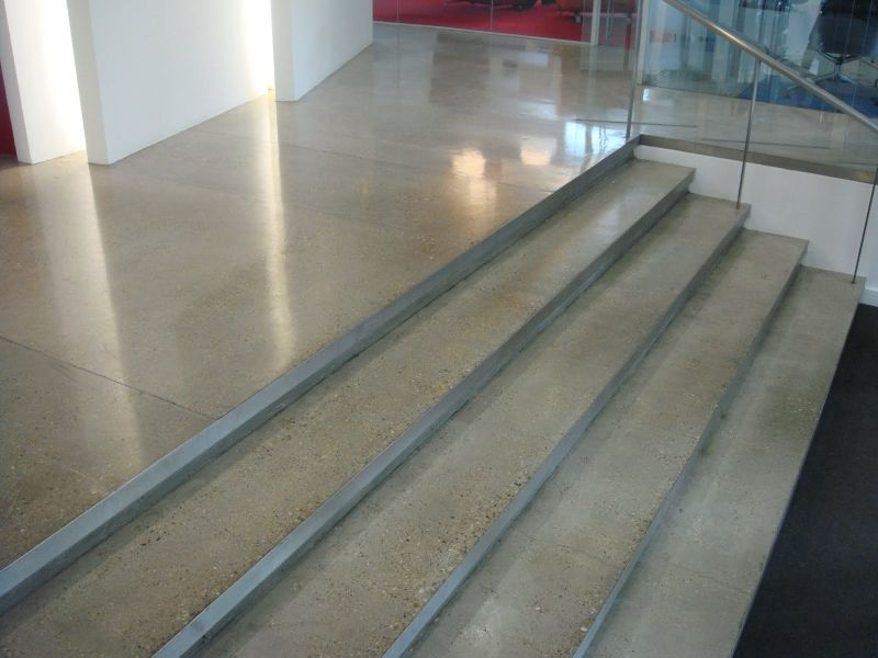 Diamond polished exposed aggregate westbourne terrace for Exposed concrete floor