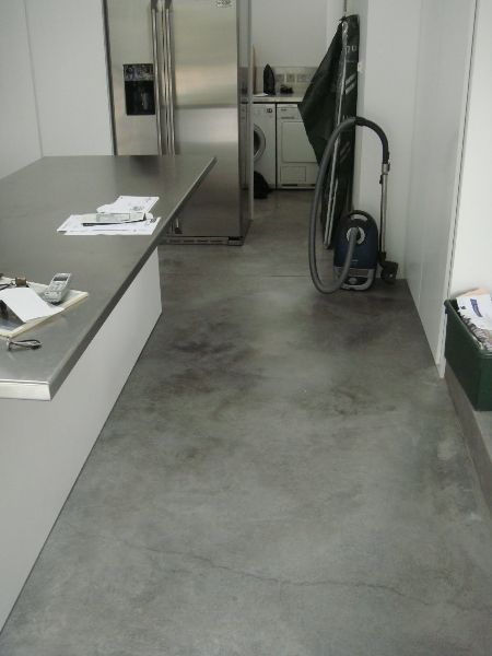 Charming Natural Power Float Concrete Floors, House, Bath