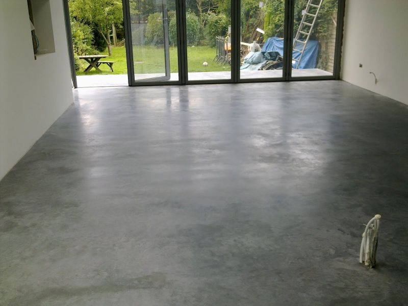 natural power float concrete floors house oxted