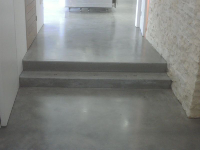 Steel grey floors gloucester house steyson granolithic for Floors on floors