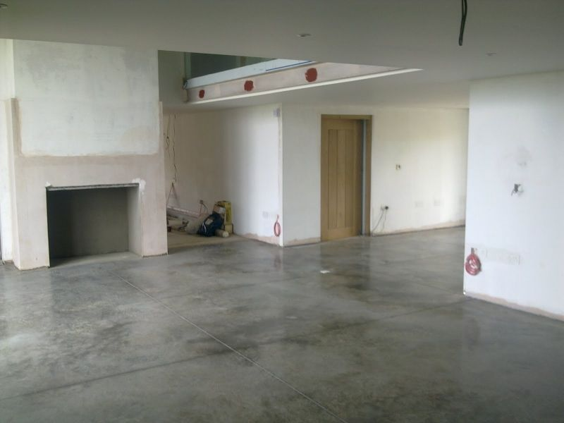 Black And White Painted Concrete Floor